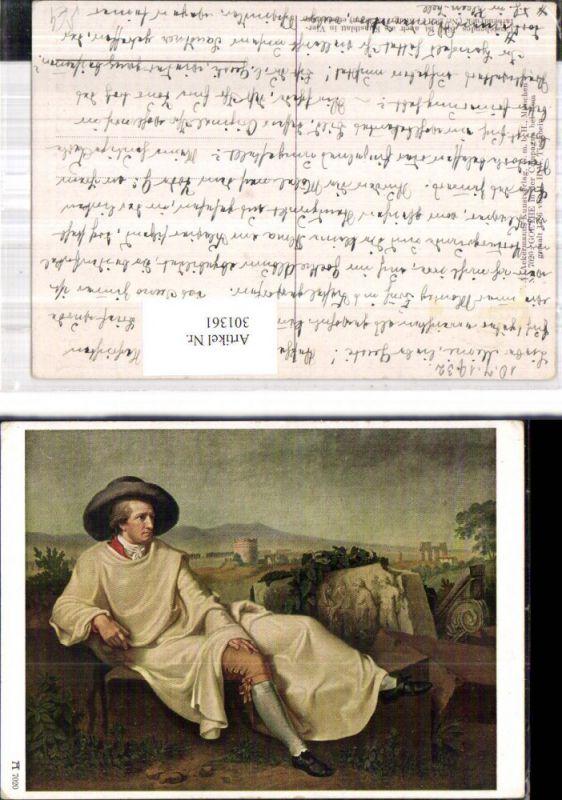 Künstler Ak J. H. W. Tischbein Goethe i. d. Campagna b. Rom pub F. A. Ack