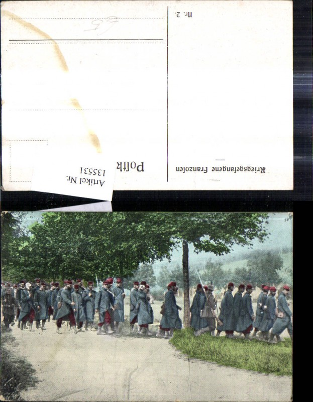 WW1 Kriegsgefangene Franzosen Soldaten Uniformen Bajonett