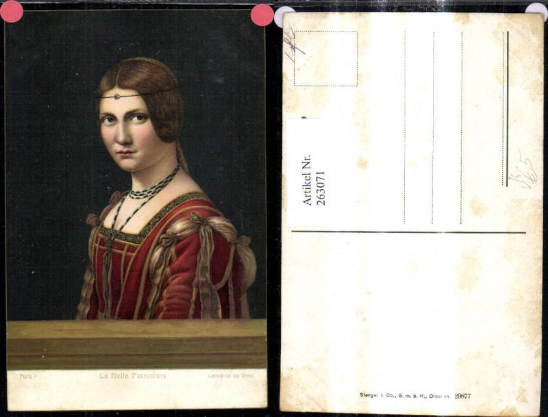Stengel Co 29877 Leonardo da Vinci La Belle Ferroniere Frau Portrait