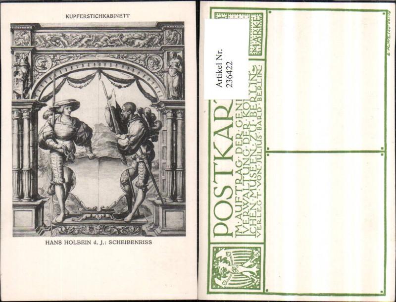 Kupferstichkabinett Hans Holbein Scheibenriss