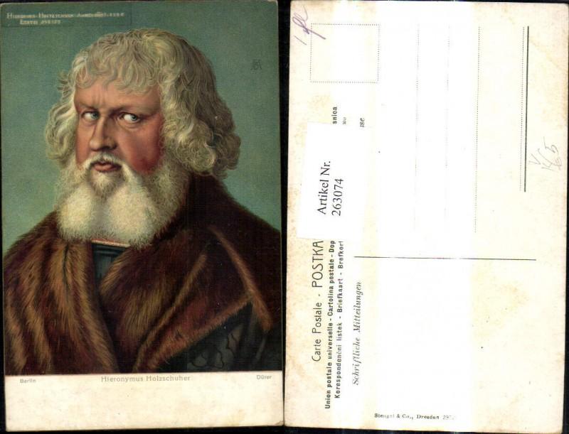 Stengel Co 29728 Albrecht Dürer Hieronymus Holzschuher Mann Portrait