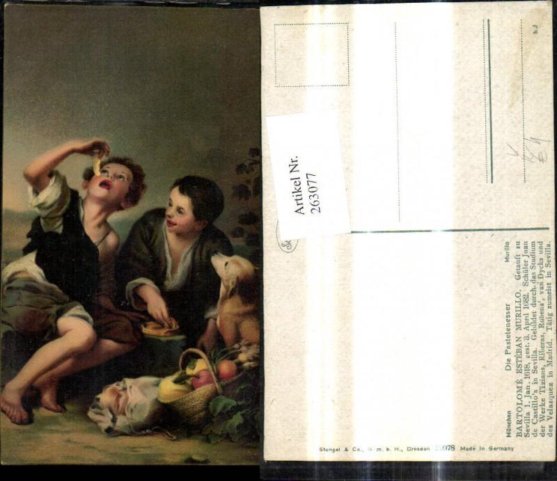 Stengel Co 29978 Bartolome Esteban Murillo Die Pastetenesser Kinder m. Hu