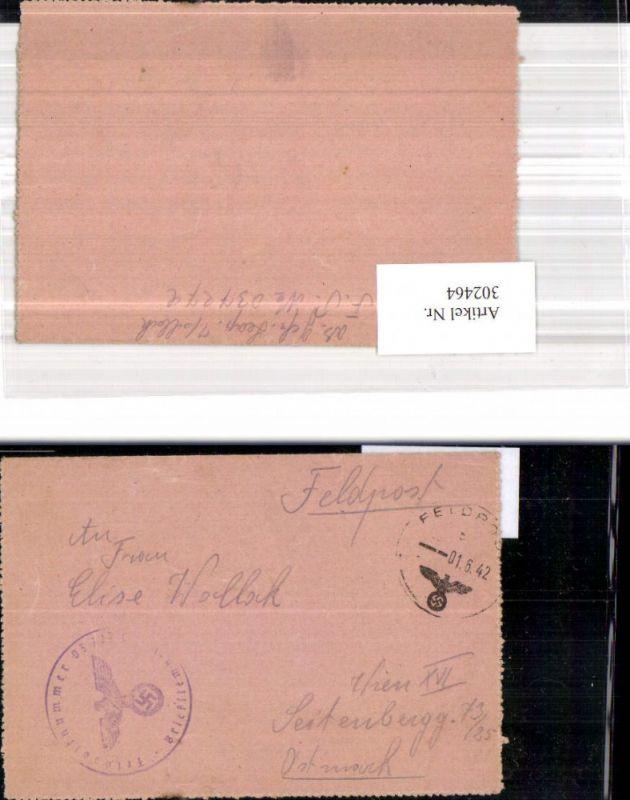 WK 2 Feldpost Dienststelle 03727 C n. Wien 1942