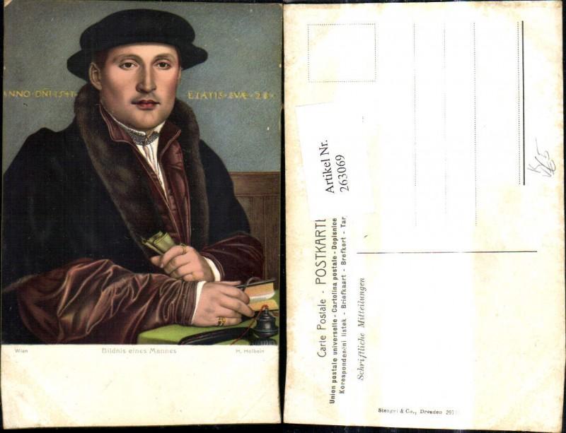 Stengel Co 29755 H. Holbein Bildnis eines Mannes