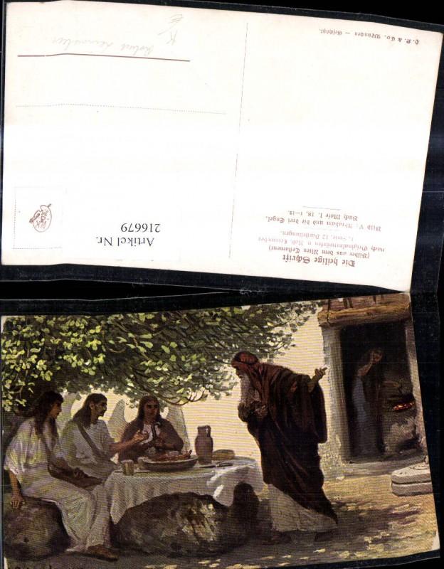 Künstler Ak Robert Leinweber Die Heilige Schrift Altes Testament Abraham