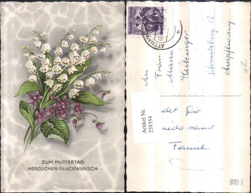 Muttertag Blumenstrauß Märzenbecher Veilchen