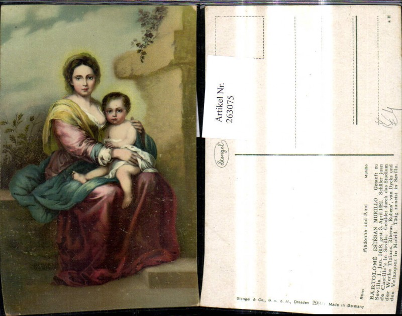 Stengel Co 29805 Bartolome Esteban Murillo Madonna u. Kind