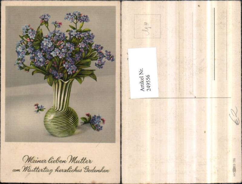 Muttertag Blumen Vergissmeinnicht Vase