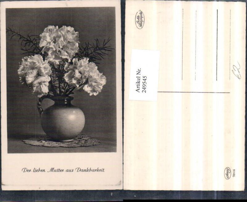 Muttertag Blumenstrauß Nelken Vase