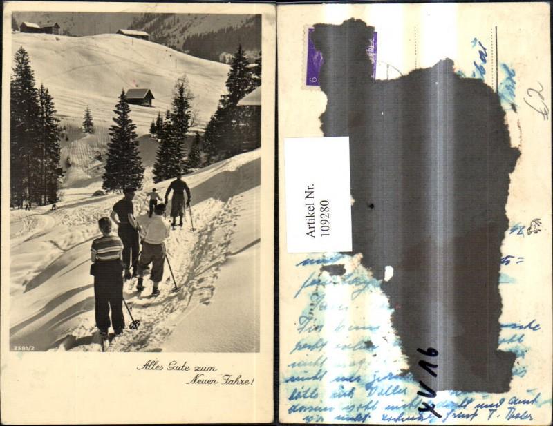 Foto Ak Frau Männer Ski Schifahren Piste