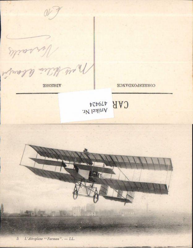 L Aeroplane Farman Segelflugzeug Flugzeug Aviatik