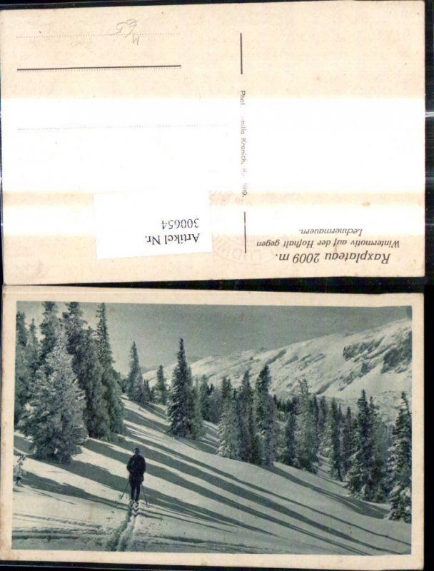 Sport Wintersport Langlaufen Ski Schi Raxplateau Lehnermauern