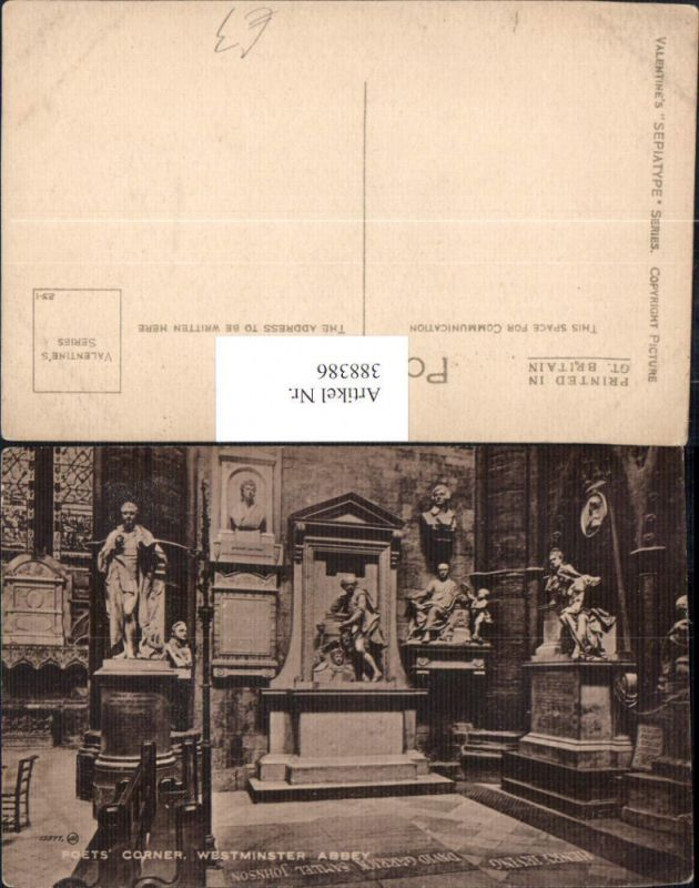 Statue Monument Poets Corner Westminster Abbey Kirche Religion