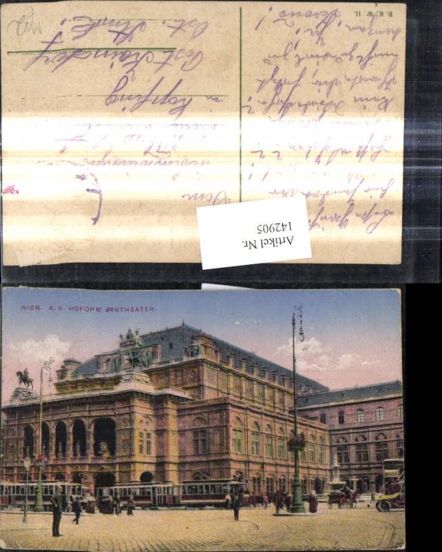 Kk Hofopertheater Wien Oper Strassenbahn Ringlinie