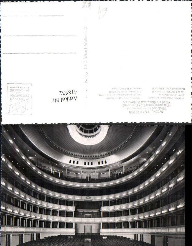 Foto Ak Wien Staatsoper Oper Blick auf Zuschauerraum