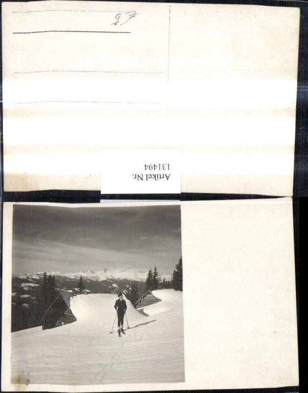 Foto Ak Sport Wintersport Junge Mann Schi Ski Skilaufen Langlaufen