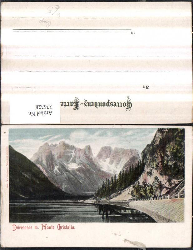 Trentino Bolzano Toblach Dürrensee See m. Monte Christallo Cristallo Berg