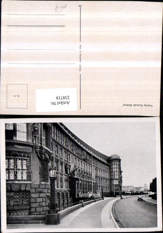 Leipzig Deutsche Bücherei Straßenansicht