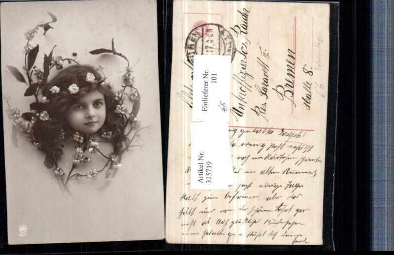 Fotomontage Kinderkopf Kindskopf Mädchenkopf im Strauch