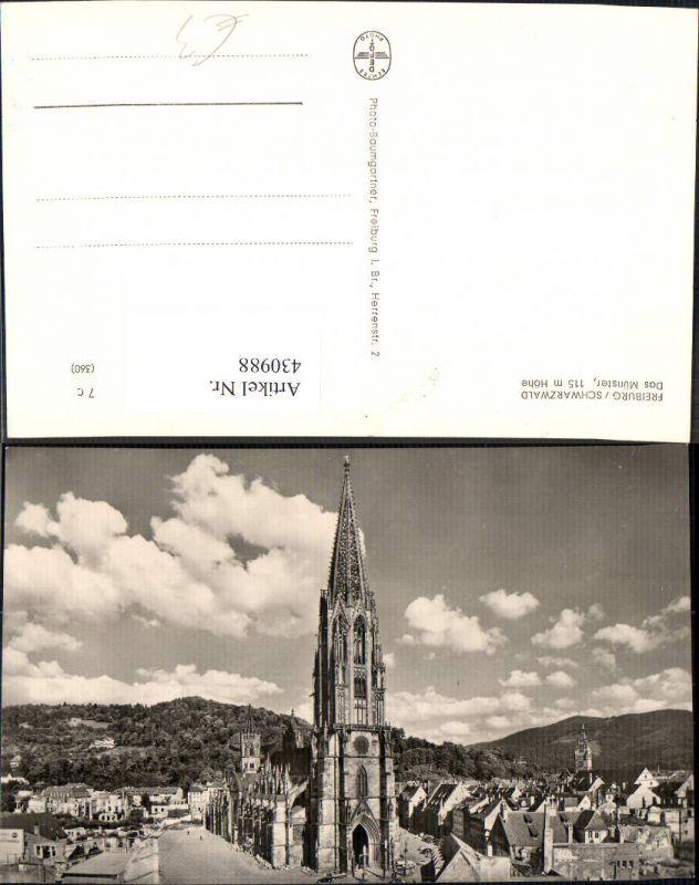 Foto Ak Freiburg i. Schwarzwald Das Münster Kirche Dom