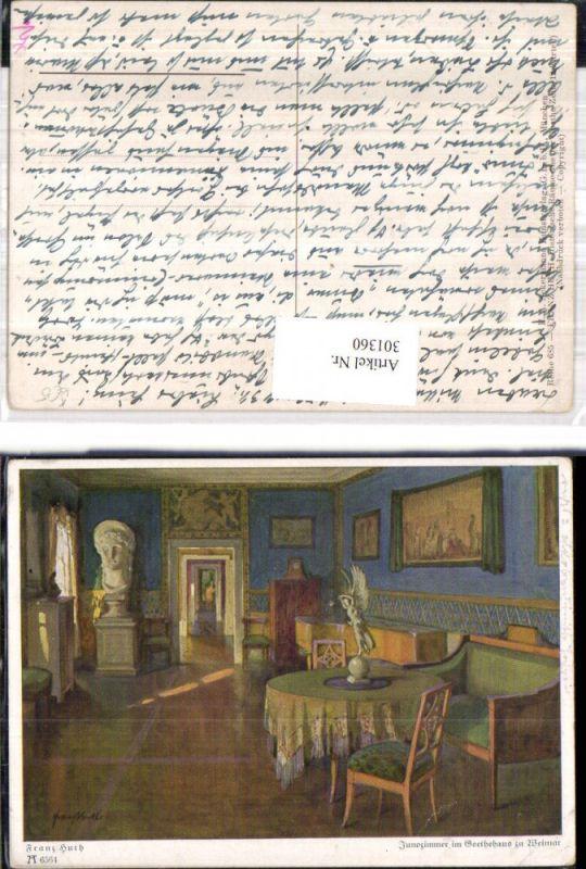 Künstler Ak Franz Huth Historische Räume Goethe Zeit Junozimmer pub F. A.