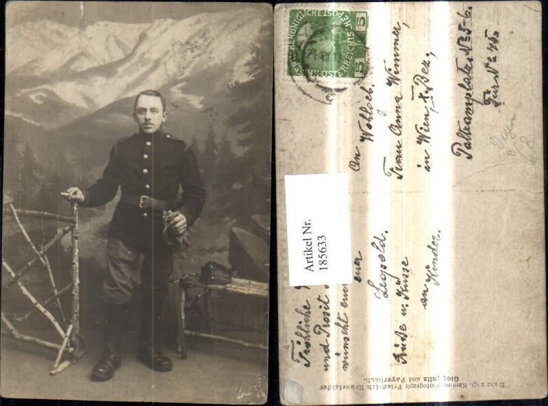 WW1 Soldat Uniform v. Leinwand Zigarette Degen