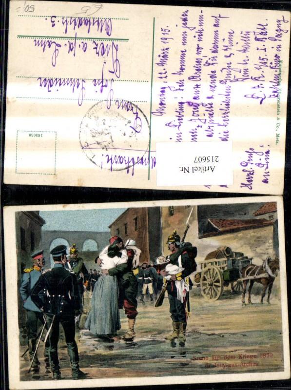 K.k. Soldaten Kuss Frau Kind Bajonett Uniform Pickelhaube Szene a. d. Kri