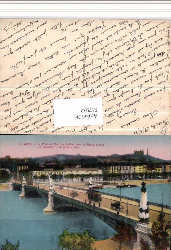 Straßenbahn Lyon Le Pont Brücke