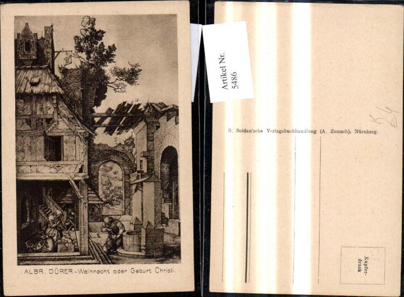 Künstler Ak Albrecht Dürer Weihnacht oder Geburt Christi