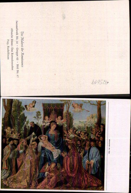Künstler Ak Albrecht Dürer Das Rosenkranzfest Renaissance