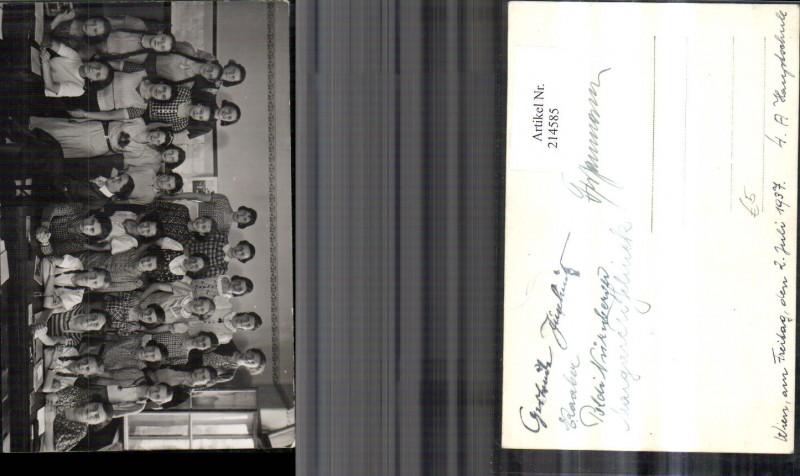 Foto Ak Wien Schule Schüler Kinder Gruppenfoto Hauptschule 1937