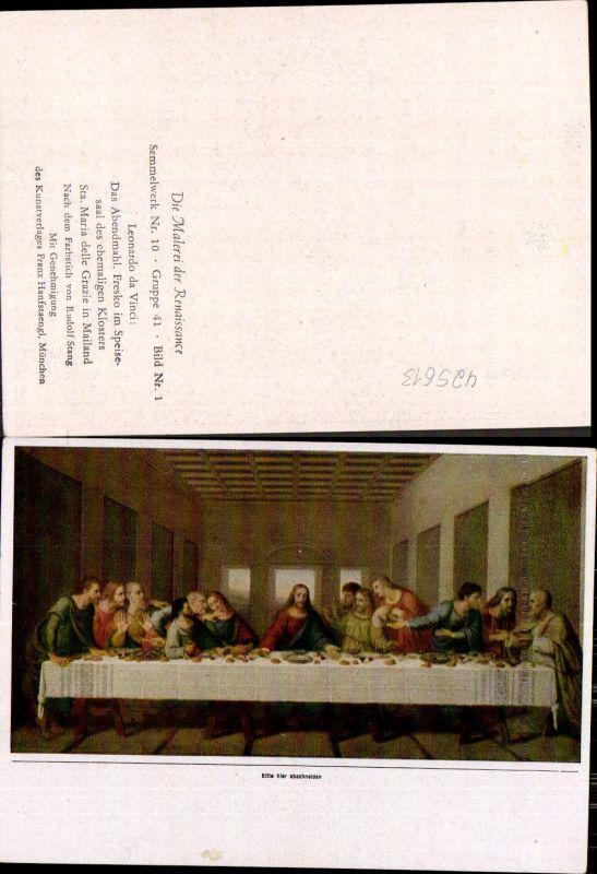 Künstler Ak Leonardo da Vinci Das Abendmahl Religion Renaissance