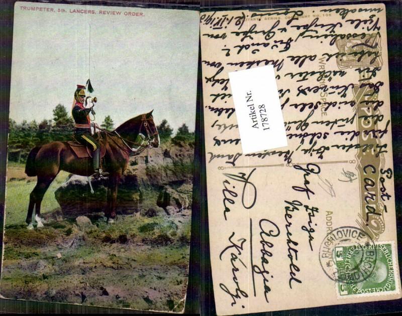 Kavallerie Soldat Pferd Trompeter Trompete Lancers Review Order