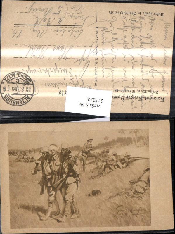 Künstler Ak Grottinger K.k. Soldaten Verwundet Kolonial Krieger Deutsch O 0
