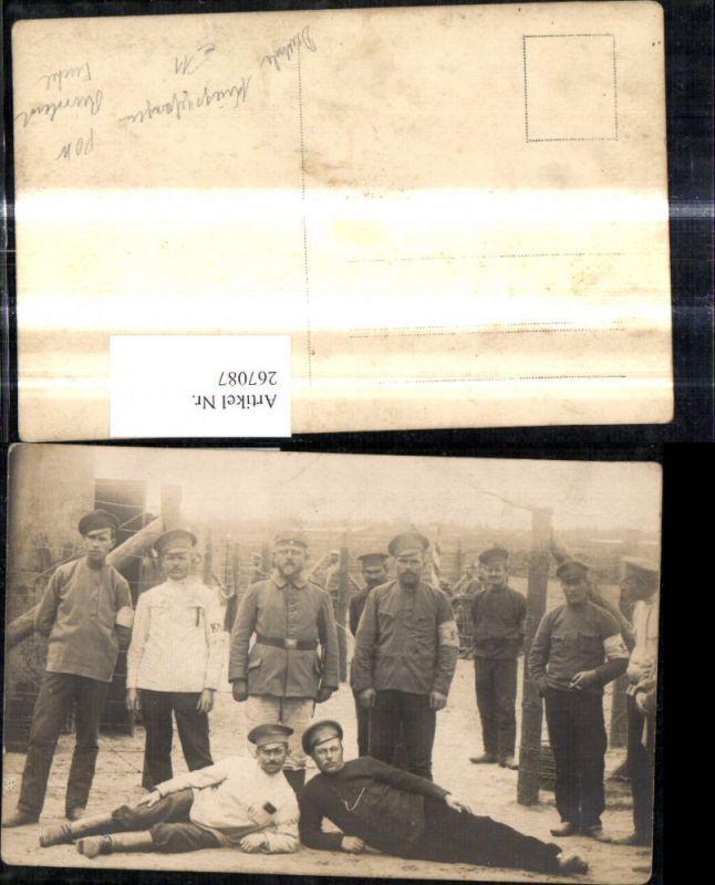 Foto Ak WW1 Soldaten Deutsche Kriegsgefangene POW Russland