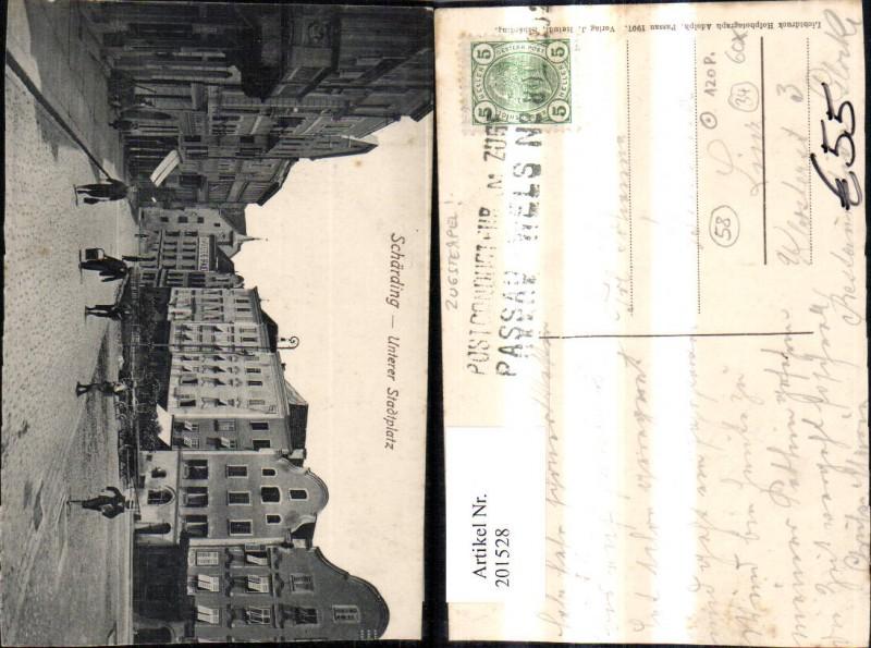Bahnpost Zugstempel Zug 89 Passau Wels Schärding Unterer Stadtplatz