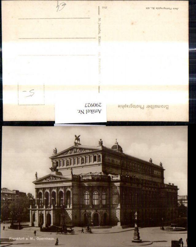 Foto Ak Frankfurt a. Main Opernhaus Oper