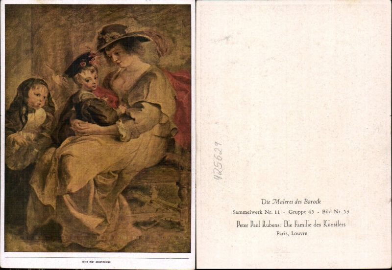 Künstler Ak Peter Paul Rubens Die Familie d. Künstlers Barock