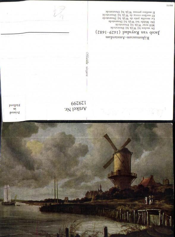 Künstler Ak Jacob van Ruysdael Die Mühle b. Wijk bij Duurstede Windmühle