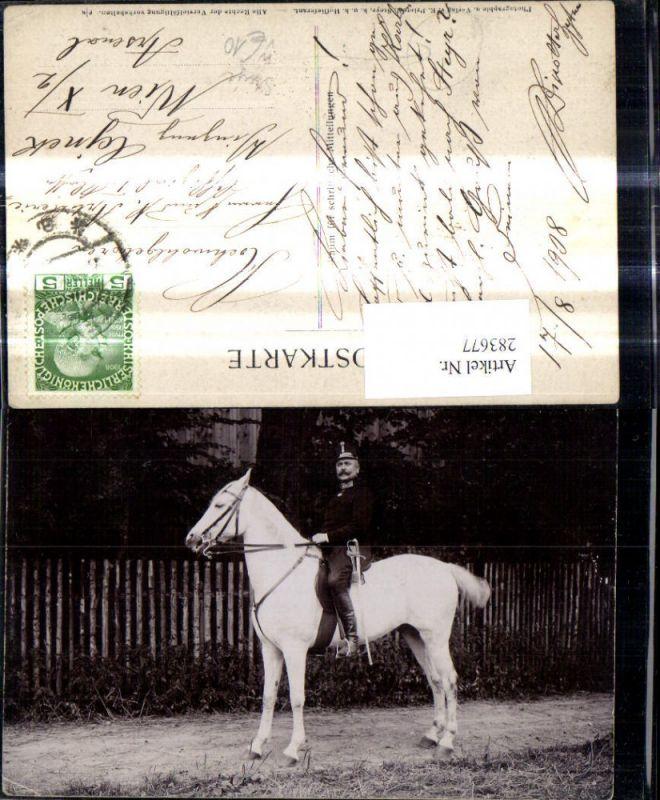 WW1 Soldat Uniform a. Pferd Kavallerie pub E. Prietzel Steyr