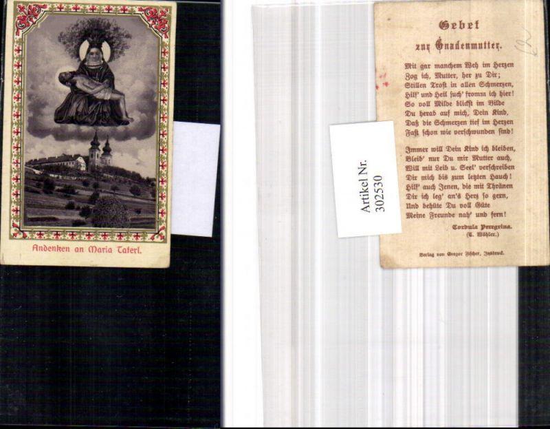 Andachtsbild Heiligenbildchen Maria Taferl Gnadenmutter
