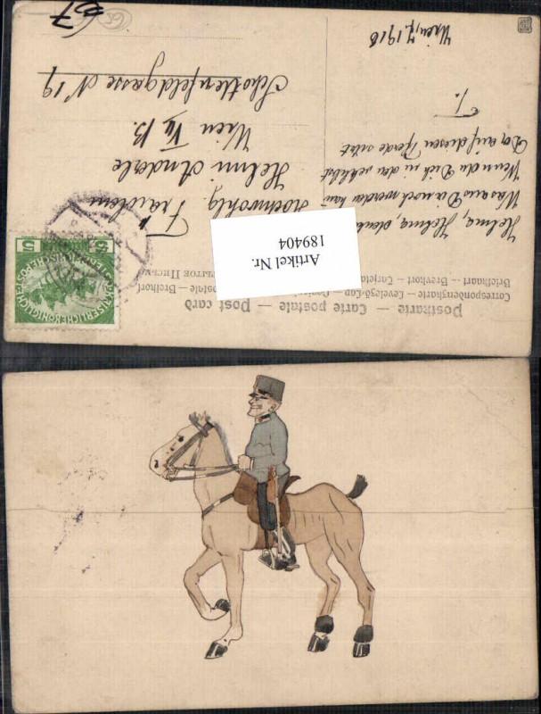 Künstler AK Kindersoldat am Pferd Kavallerie Kind Uniform