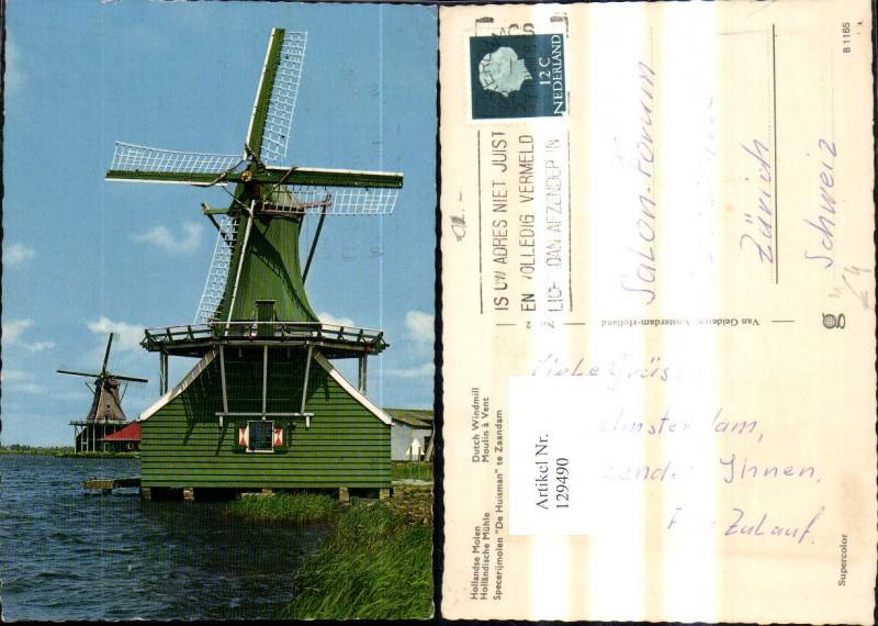 Hollandische Mühle Windmühle Zaandam De Huisman