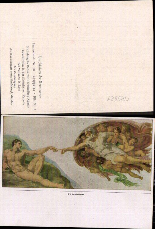 Künstler Ak Michelangelo Buonarroti Erschaffung Adams Renaissance