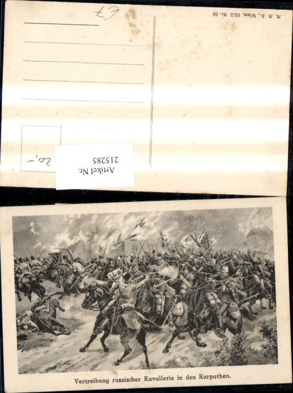 K.k. Soldaten Vertreibung russischer Kavallerie in d. Karpathen Karpaten