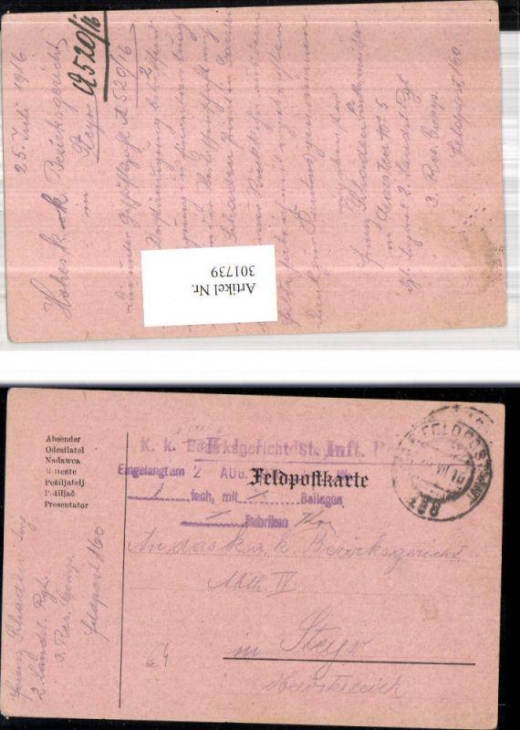 K.k. Feldpost 160 2. Landsturmregiment 3. Reservekompagnie n. Bezirksgeri