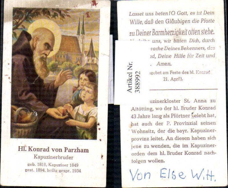 Andachtsbild Heiligenbildchen Hl. Konrad v. Parzham Kapuzinerbruder