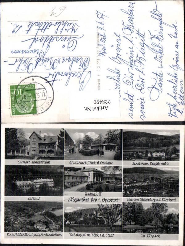 Bad Orb im Spessart Totale Badehaus Kurhaus Sanatorium Kurpark Gradierwer