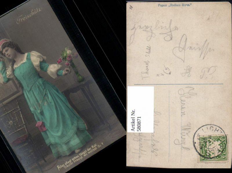 Frau Freischütz Kleid Mode Kostüm Spruch pub PH 4378/2