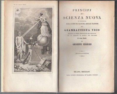 VICO, Principj di Scienza Nuova d'Intorno alla... 1854